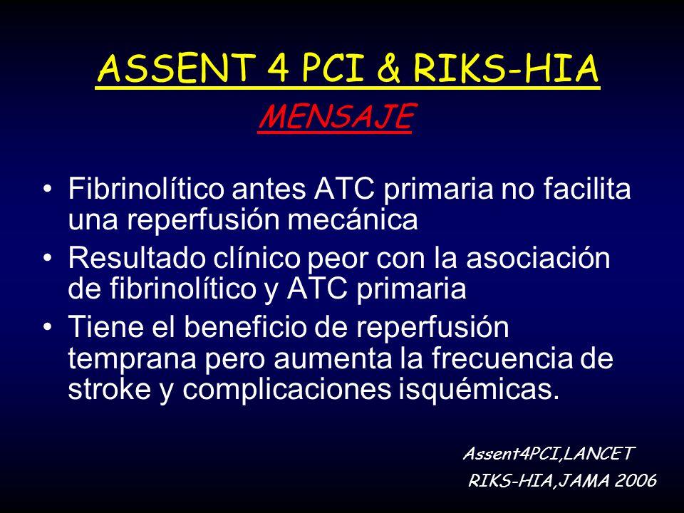 ASSENT 4 PCI & RIKS-HIA MENSAJE