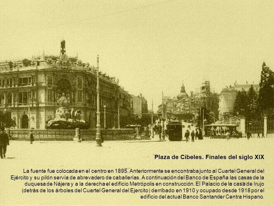 Plaza de Cibeles. Finales del siglo XIX