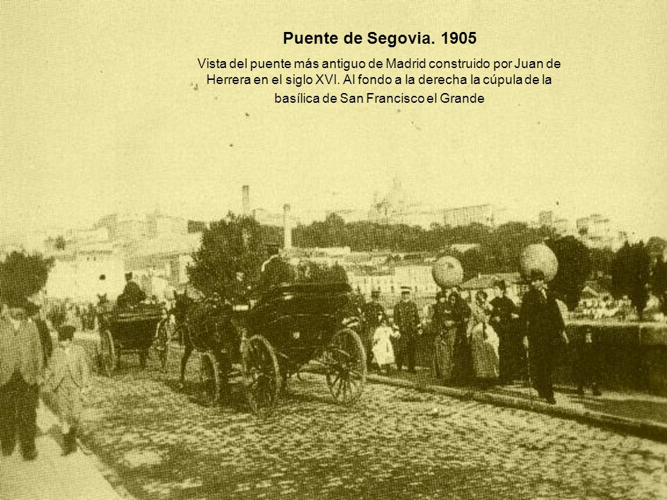 Puente de Segovia. 1905