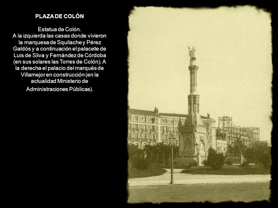PLAZA DE COLÓN Estatua de Colón.