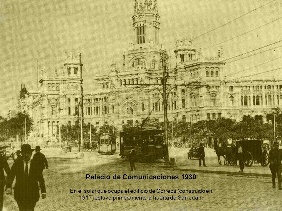 Palacio de Comunicaciones 1930