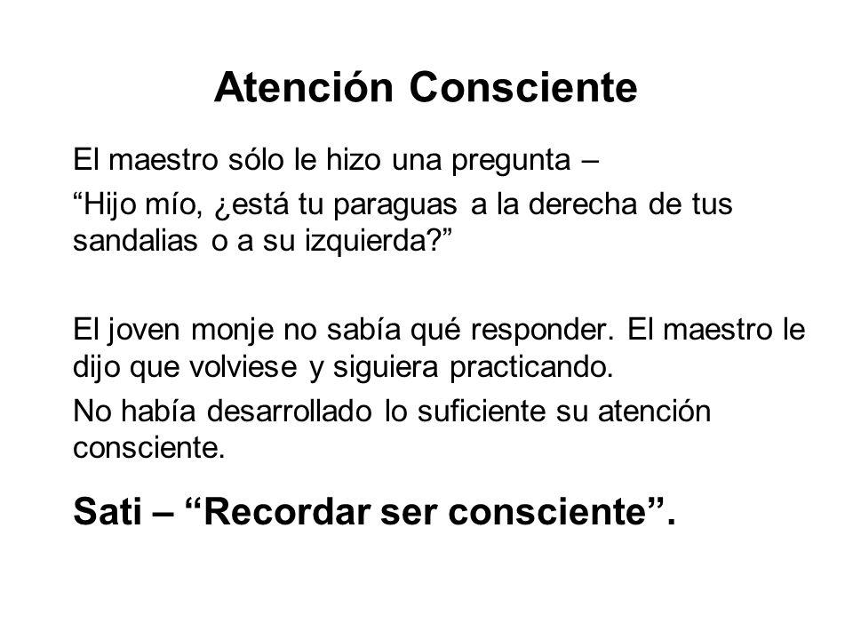 Atención Consciente Sati – Recordar ser consciente .