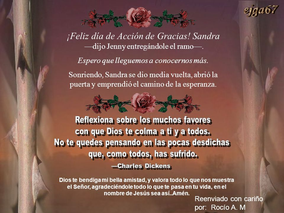 ejga67 ¡Feliz día de Acción de Gracias! Sandra