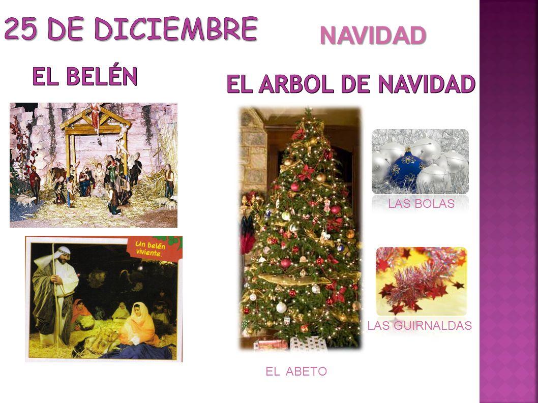 25 DE DICIEMBRE NAVIDAD EL BELÉN EL arbol de navidad LAS BOLAS