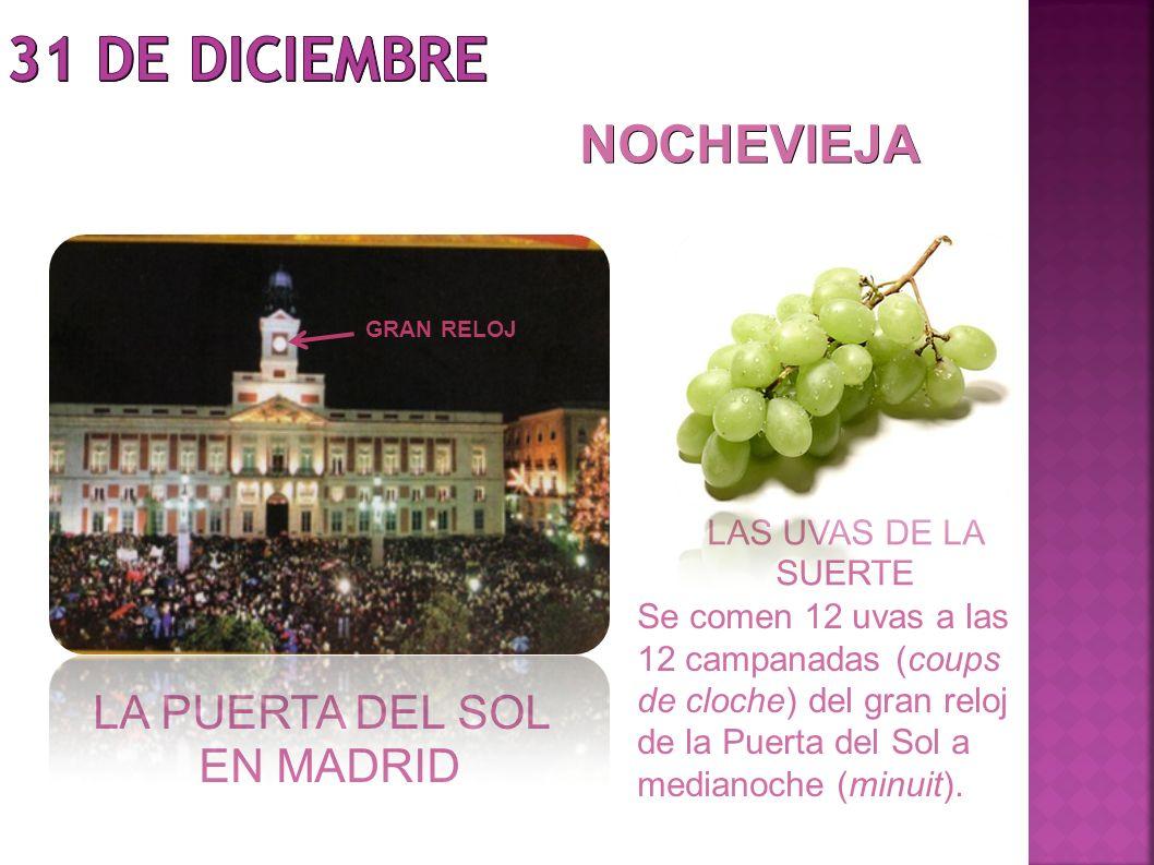 31 DE DICIEMBRE NOCHEVIEJA LA PUERTA DEL SOL EN MADRID