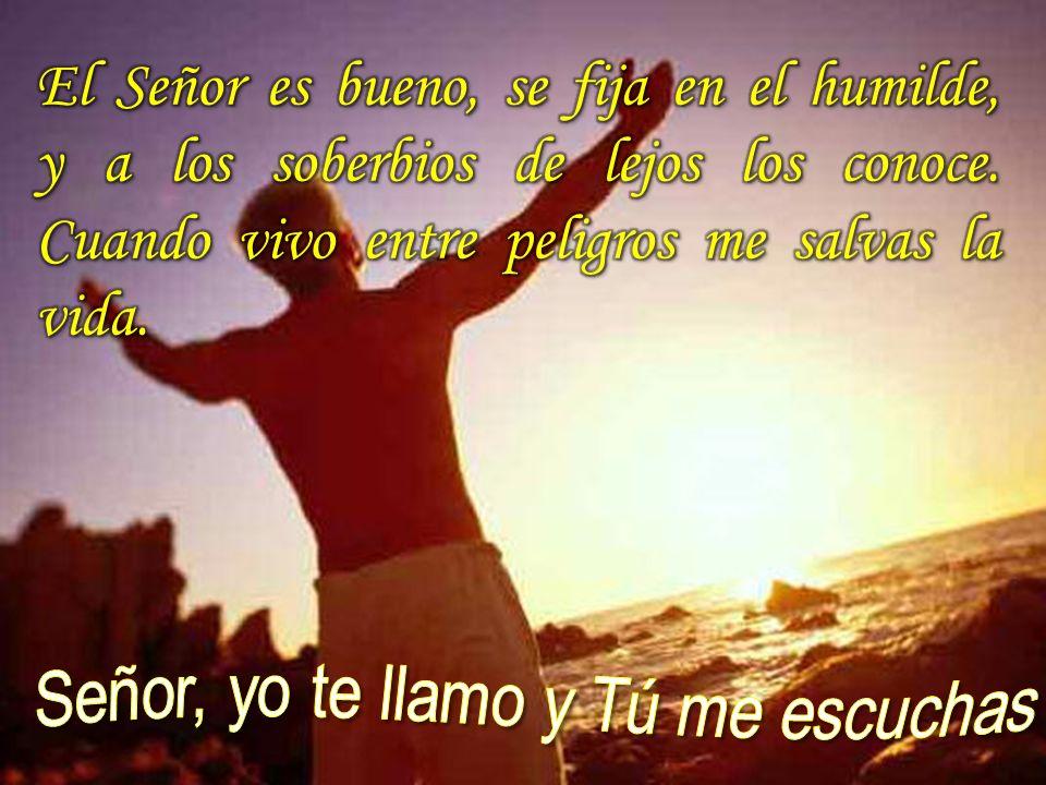 El Señor es bueno, se fija en el humilde, y a los soberbios de lejos los conoce. Cuando vivo entre peligros me salvas la vida.