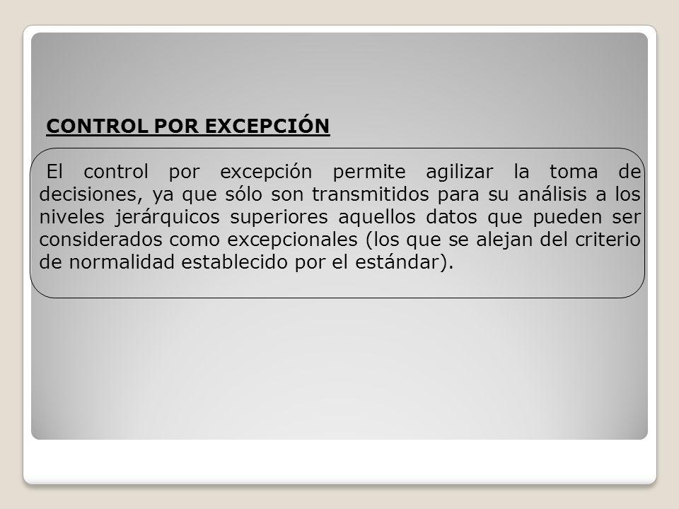 CONTROL POR EXCEPCIÓN