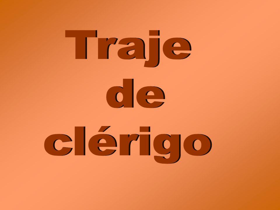 Traje de clérigo