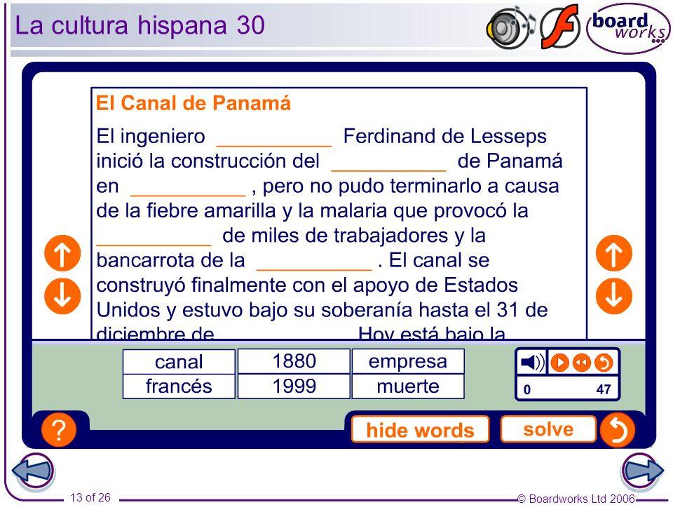 La cultura hispana 30 Transcript: El Canal de Panamá