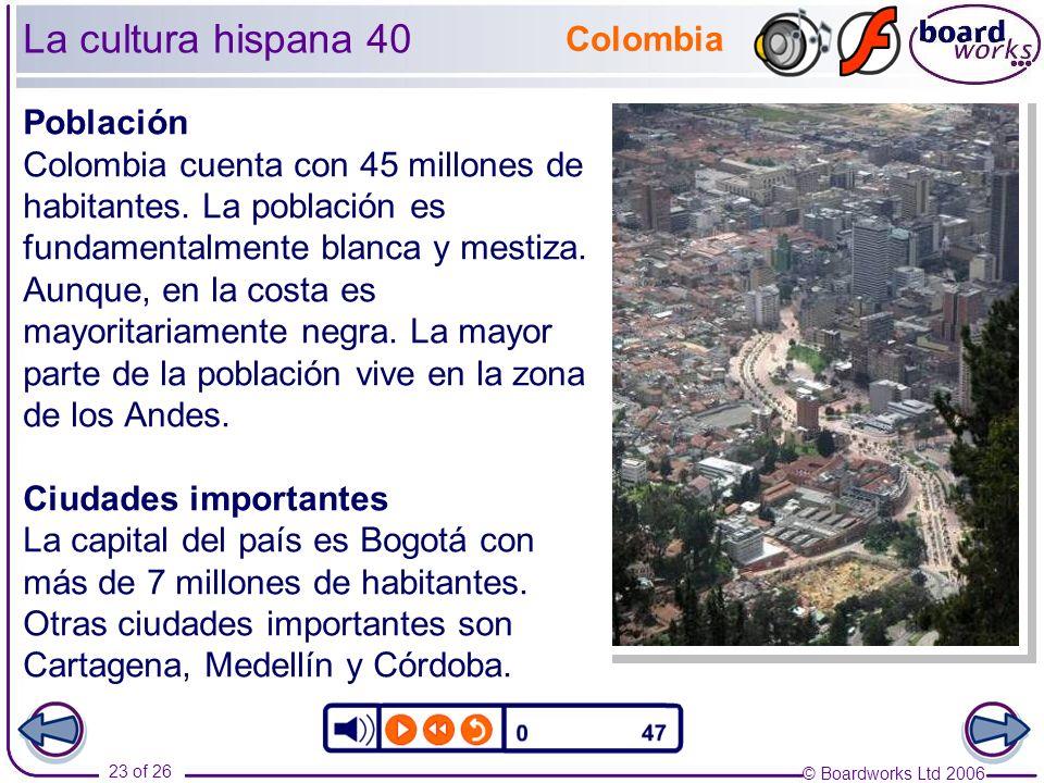 La cultura hispana 40 Colombia Población