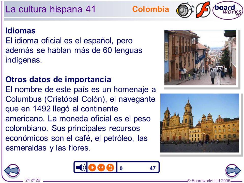 La cultura hispana 41 Colombia Idiomas
