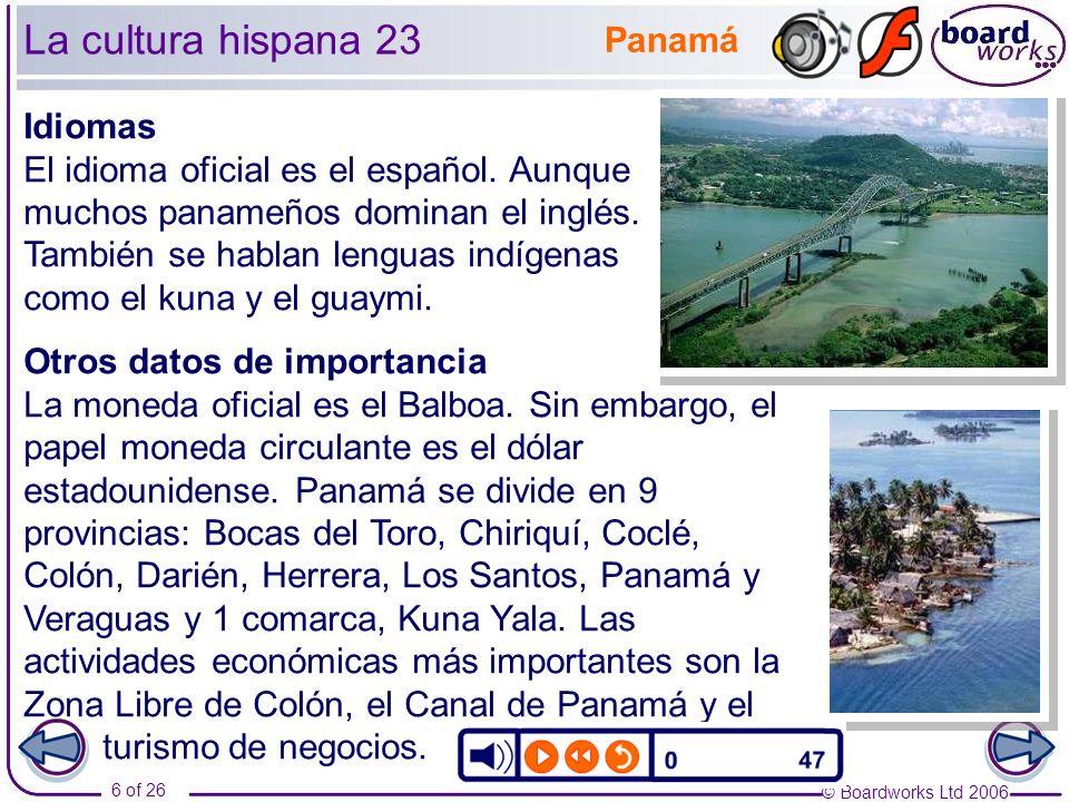 La cultura hispana 23 Panamá Idiomas