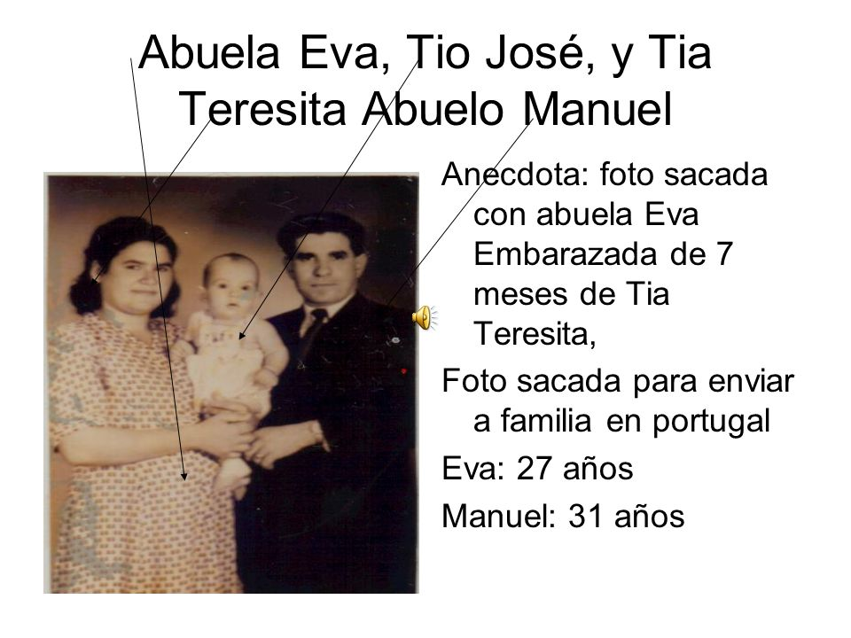 Abuela Eva, Tio José, y Tia Teresita Abuelo Manuel