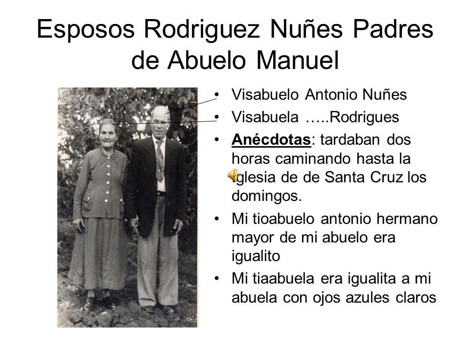 Esposos Rodriguez Nuñes Padres de Abuelo Manuel