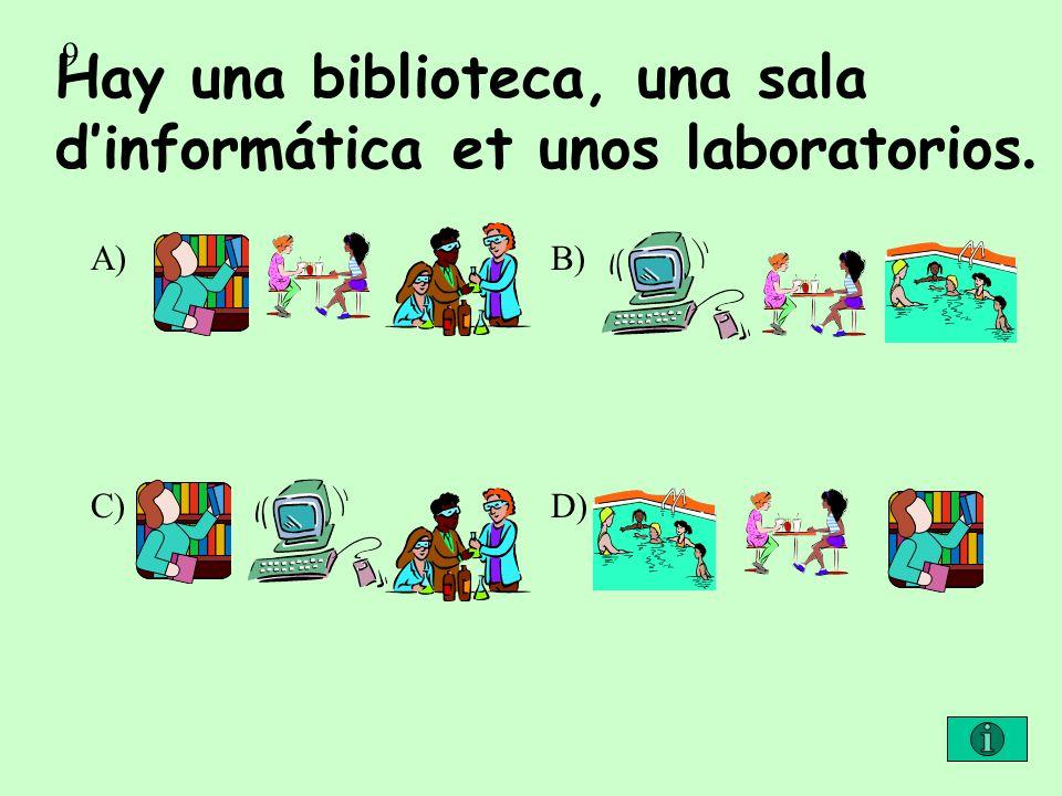 Hay una biblioteca, una sala d'informática et unos laboratorios.
