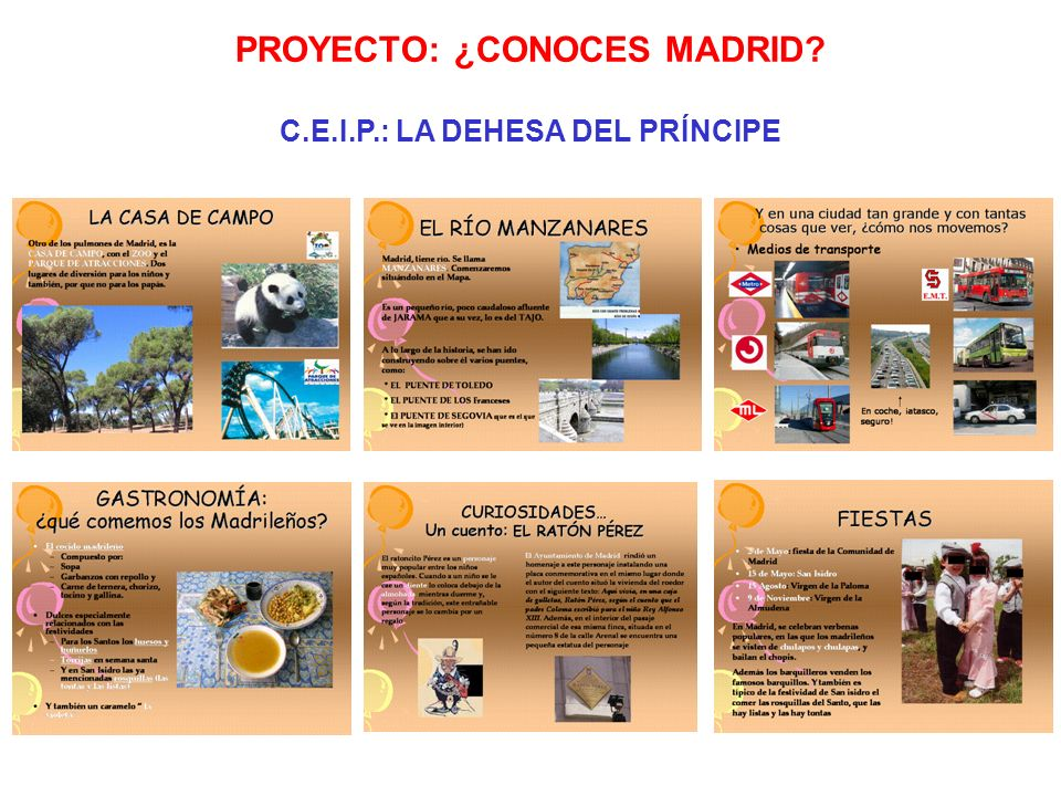 PROYECTO: ¿CONOCES MADRID C.E.I.P.: LA DEHESA DEL PRÍNCIPE