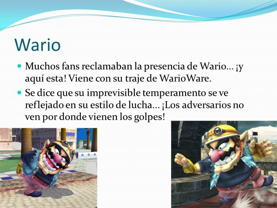 Wario Muchos fans reclamaban la presencia de Wario... ¡y aquí esta! Viene con su traje de WarioWare.