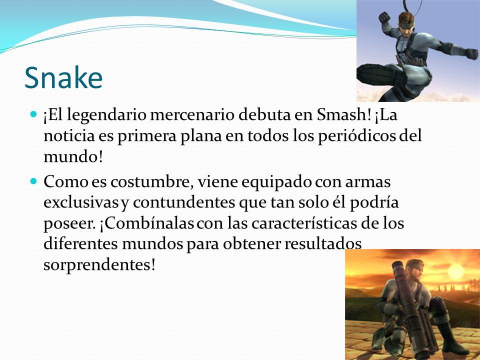 Snake ¡El legendario mercenario debuta en Smash! ¡La noticia es primera plana en todos los periódicos del mundo!