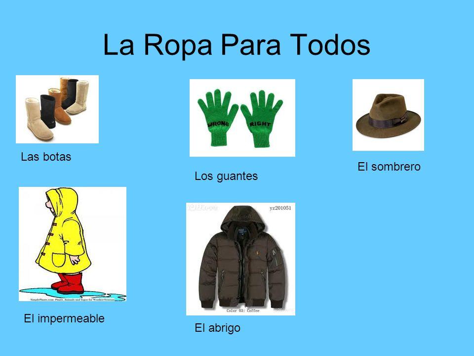 La Ropa Para Todos Las botas El sombrero Los guantes El impermeable