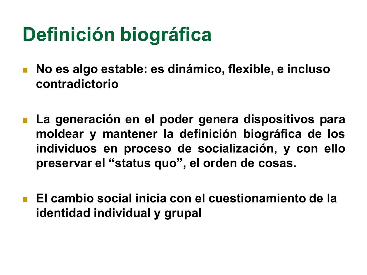 Definición biográfica