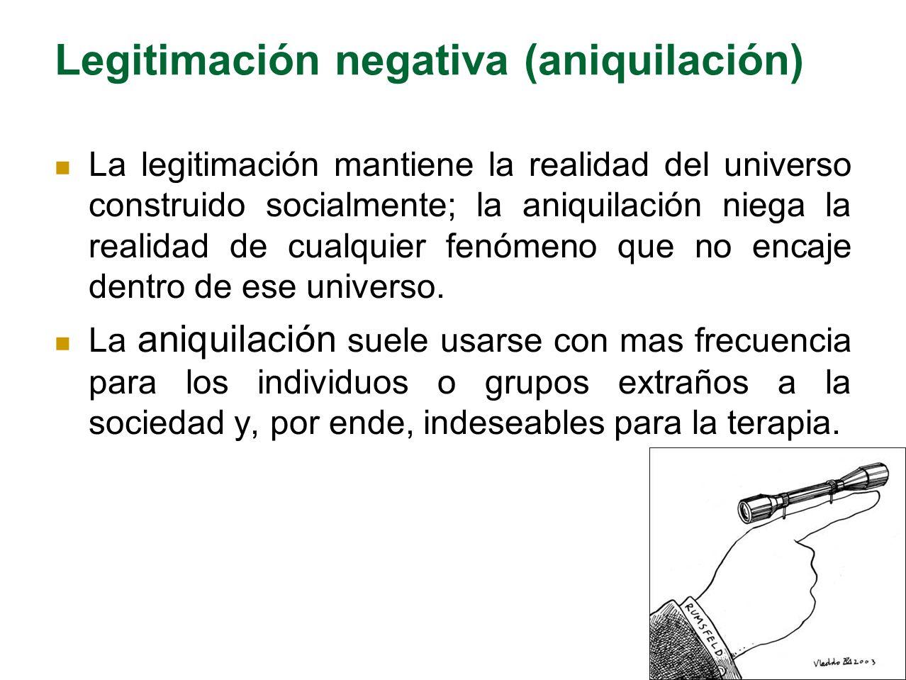 Legitimación negativa (aniquilación)