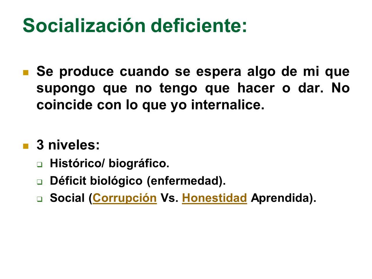 Socialización deficiente: