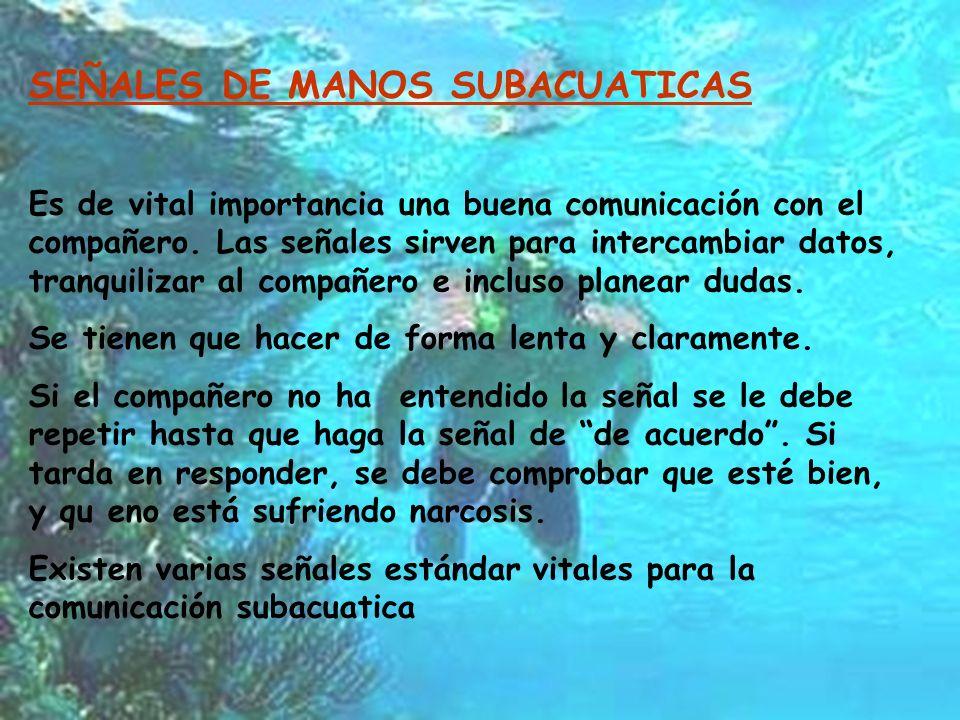 SEÑALES DE MANOS SUBACUATICAS