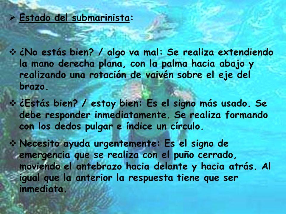 Estado del submarinista: