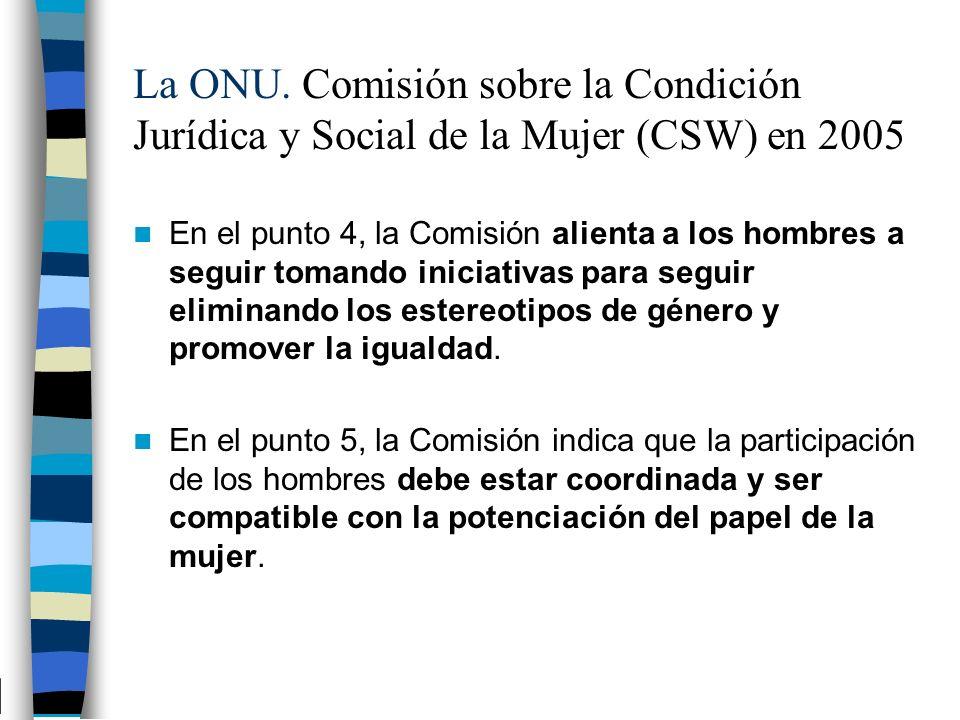 La ONU. Comisión sobre la Condición Jurídica y Social de la Mujer (CSW) en 2005