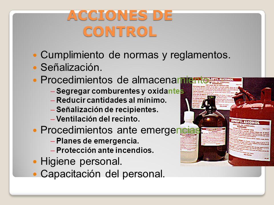 ACCIONES DE CONTROL Cumplimiento de normas y reglamentos.