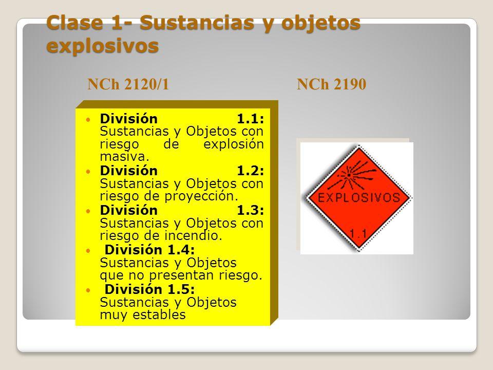 Clase 1- Sustancias y objetos explosivos