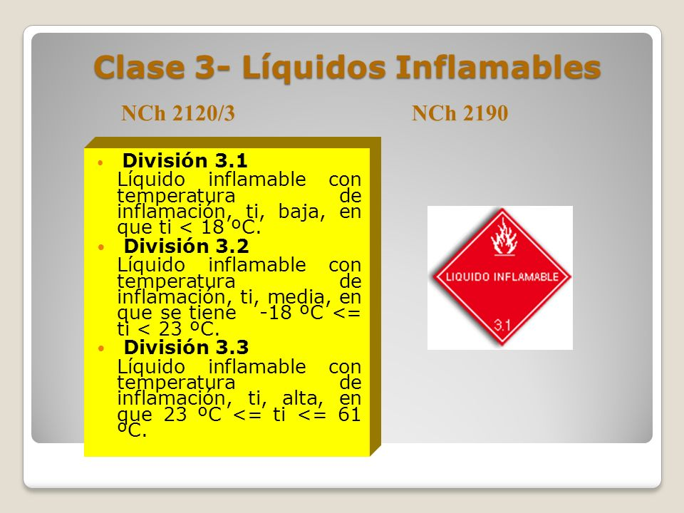 Clase 3- Líquidos Inflamables