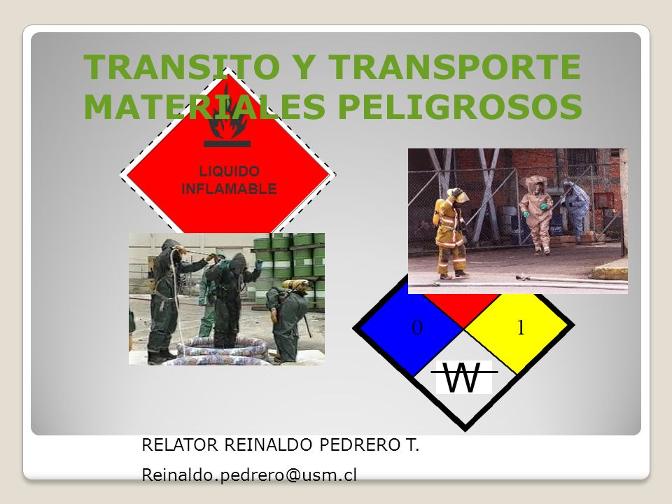 TRANSITO Y TRANSPORTE MATERIALES PELIGROSOS