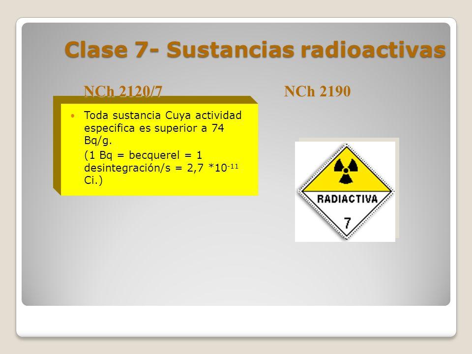 Clase 7- Sustancias radioactivas