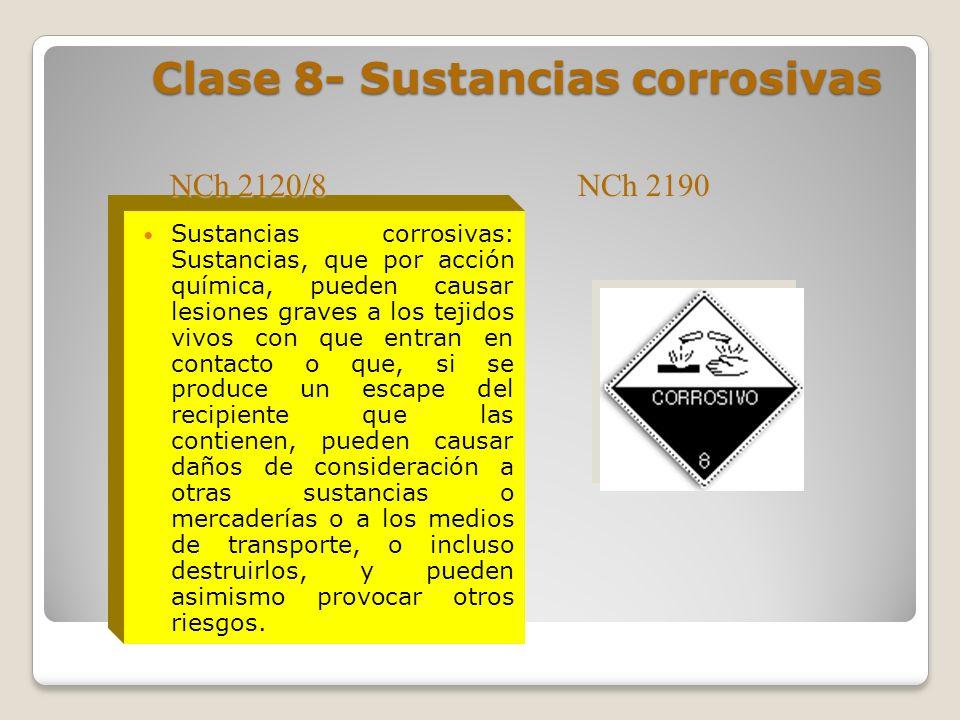 Clase 8- Sustancias corrosivas