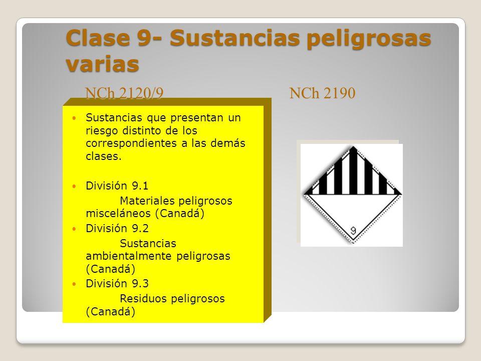 Clase 9- Sustancias peligrosas varias