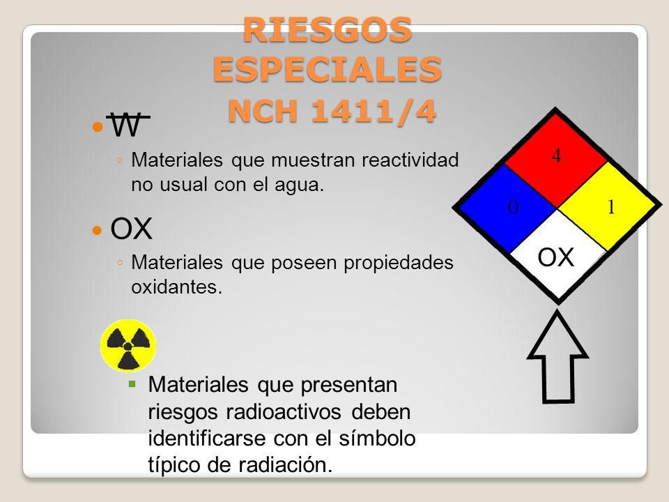 RIESGOS ESPECIALES NCH 1411/4