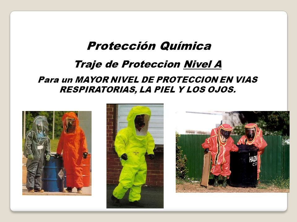 Traje de Proteccion Nivel A