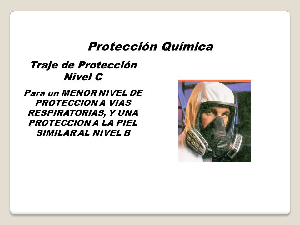 Traje de Protección Nivel C