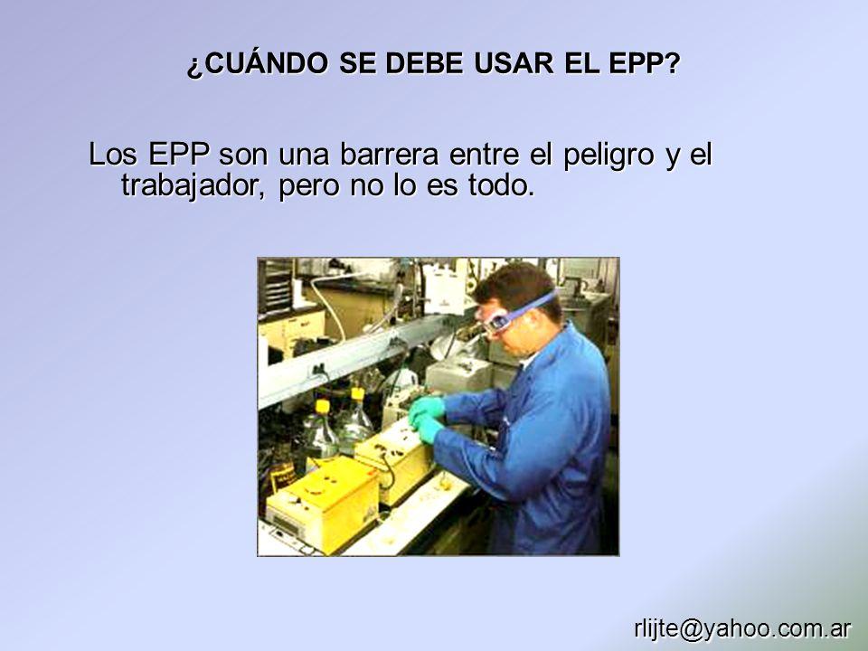 ¿CUÁNDO SE DEBE USAR EL EPP
