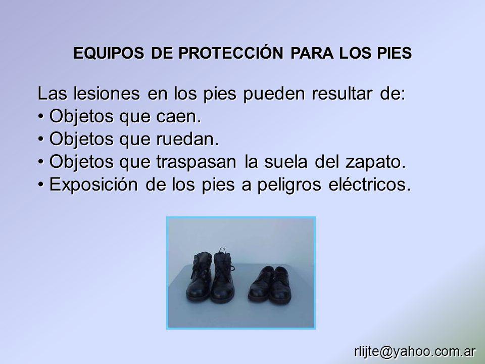 EQUIPOS DE PROTECCIÓN PARA LOS PIES