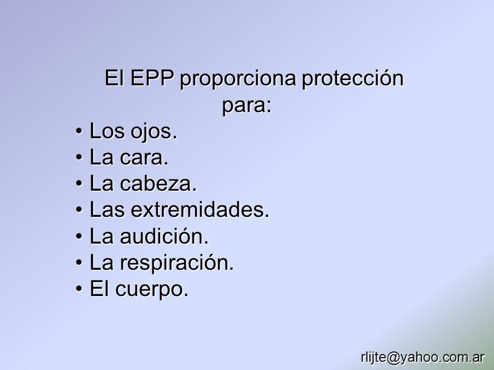 El EPP proporciona protección para: