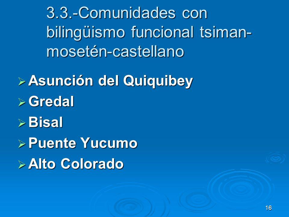 3.3.-Comunidades con bilingüismo funcional tsiman-mosetén-castellano
