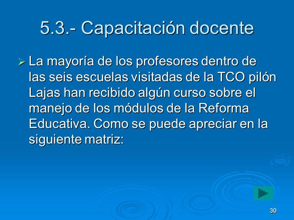 5.3.- Capacitación docente
