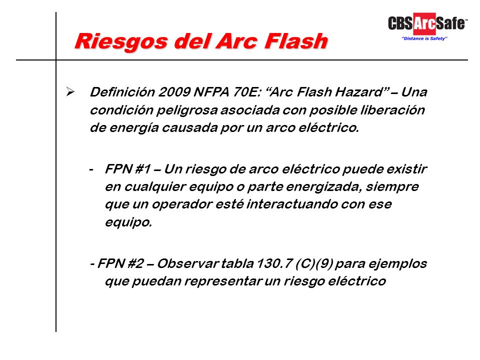 Riesgos del Arc Flash