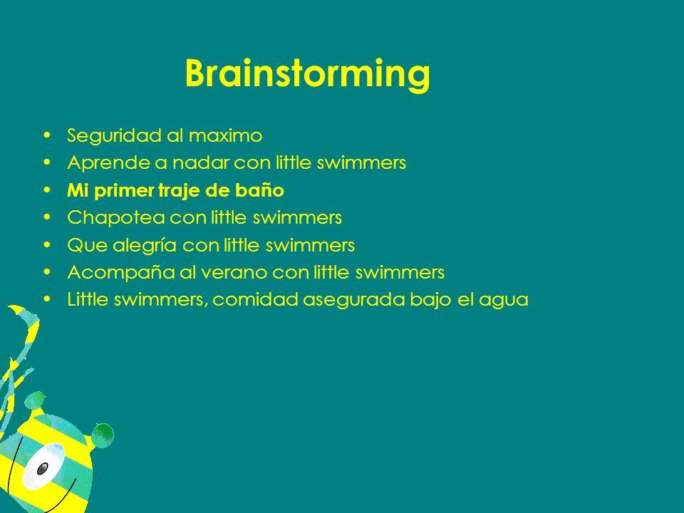 Brainstorming Seguridad al maximo Aprende a nadar con little swimmers