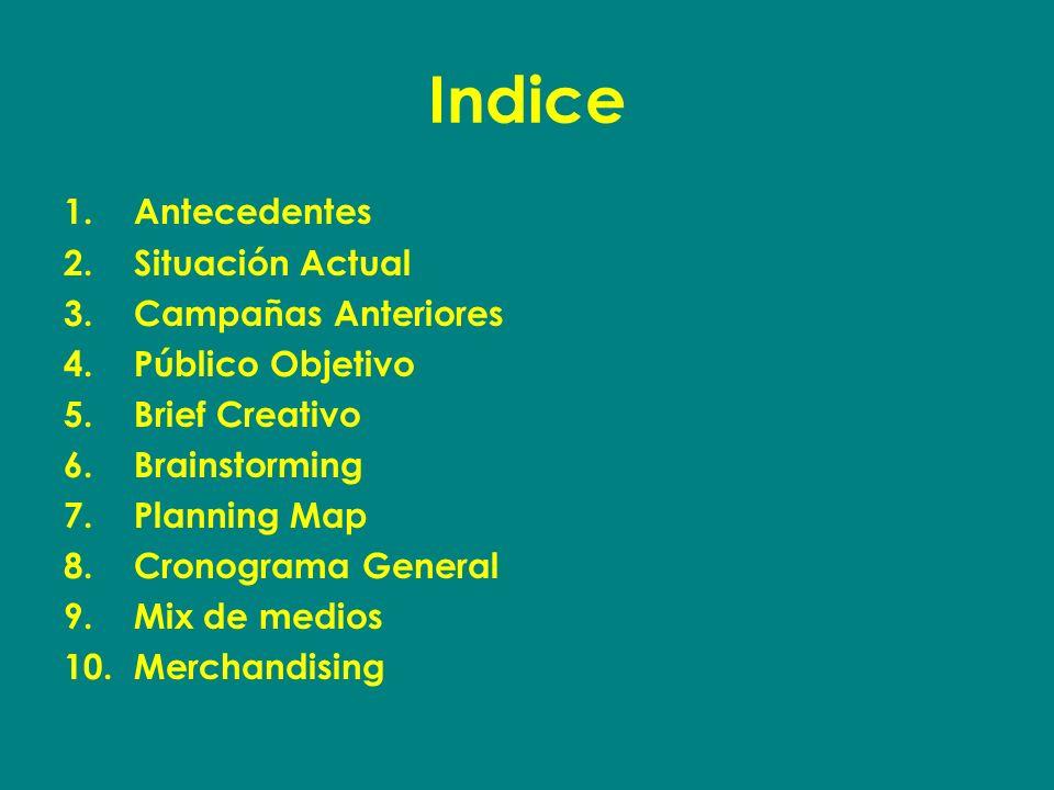Indice Antecedentes Situación Actual Campañas Anteriores