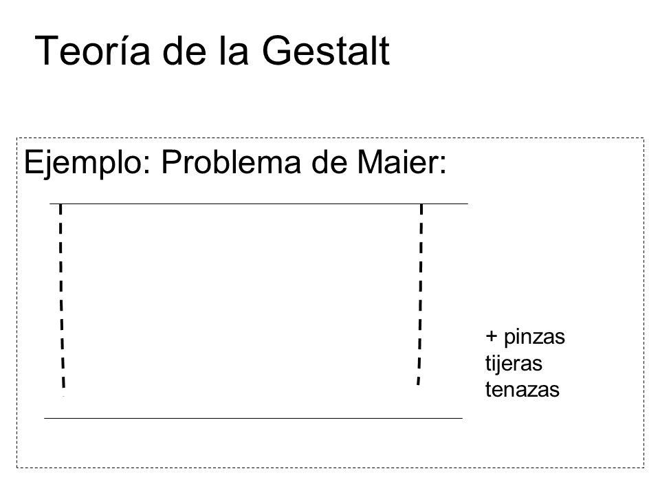 Teoría de la Gestalt Ejemplo: Problema de Maier: