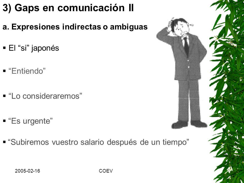 3) Gaps en comunicación II