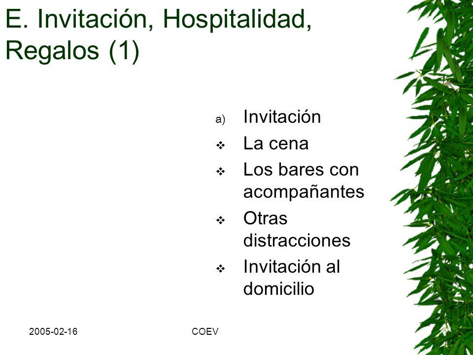 E. Invitación, Hospitalidad, Regalos (1)